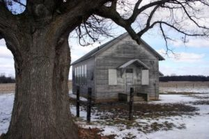 The one room school house in Lowell, MI where  Deanie is rumored to be buried.