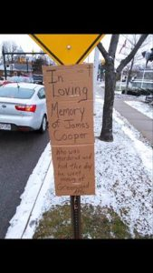 this handwritten sign was posted at a busy Monroe intersection in January 2016